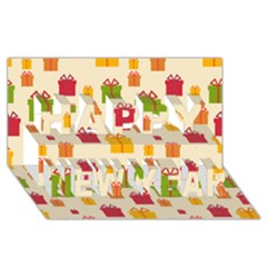 Christmas Gift Box Vector Seamless Pattern Vector Happy New Year 3D Greeting Card (8x4)
