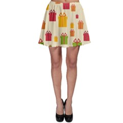 Christmas Gift Box Vector Seamless Pattern Vector Skater Skirt