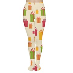 Christmas Gift Box Vector Seamless Pattern Vector Women s Tights