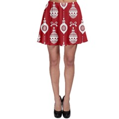Abstract Christmas Seamless Background Vector Graphic Skater Skirt
