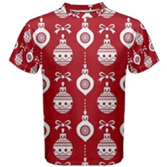 Abstract Christmas Seamless Background Vector Graphic Men s Cotton Tee
