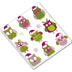 Cartoon Christmas Owl Cute Vector Small Memo Pads