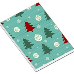Christmas Tree With Snow Seamless Pattern Vector Large Memo Pads