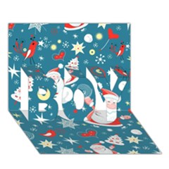 Christmas Stockings Vector Pattern Boy 3d Greeting Card (7x5)