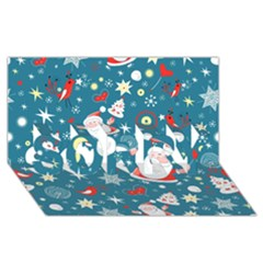 Christmas Stockings Vector Pattern Sorry 3d Greeting Card (8x4)