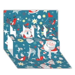 Christmas Stockings Vector Pattern Take Care 3d Greeting Card (7x5)
