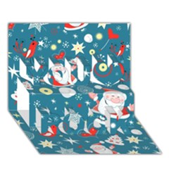 Christmas Stockings Vector Pattern You Rock 3d Greeting Card (7x5)