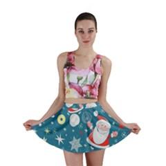 Christmas Stockings Vector Pattern Mini Skirt