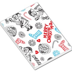 Christmas Doodle Pattern Large Memo Pads