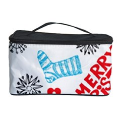 Christmas Doodle Pattern Cosmetic Storage Case