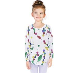 Abstract Floral Design Kids  Long Sleeve Tee