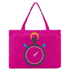 Alarm Clock Houre Medium Zipper Tote Bag