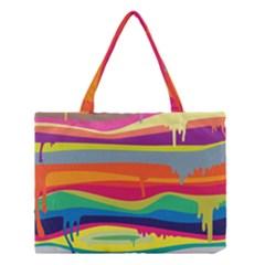 Colorfull Rainbow Medium Tote Bag