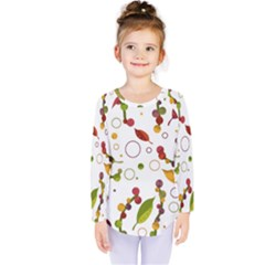 Adorable Floral Design Kids  Long Sleeve Tee