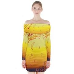 Angel Long Sleeve Off Shoulder Dress