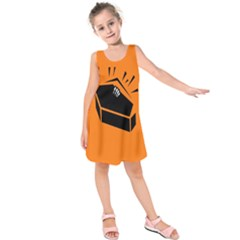 Creepy Skeleton Hand Coming Kids  Sleeveless Dress