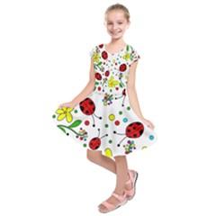 Ladybugs Kids  Short Sleeve Dress