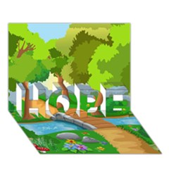 Cute Cartoon Hope 3d Greeting Card (7x5)