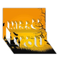 Day Halloween Night Miss You 3D Greeting Card (7x5)
