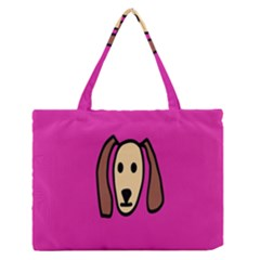 Face Dog Medium Zipper Tote Bag