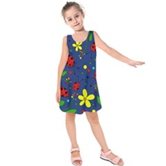 Ladybugs - blue Kids  Sleeveless Dress