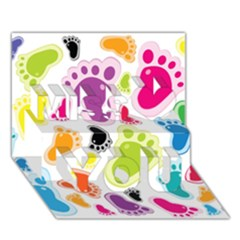 Foot Soles Of The Feet Miss You 3D Greeting Card (7x5)