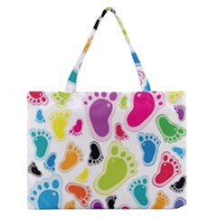 Foot Soles Of The Feet Medium Zipper Tote Bag