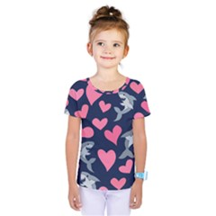 Shark Lovers Kids  One Piece Tee
