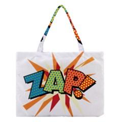 Comic Book Zap! Sans  Medium Tote Bag