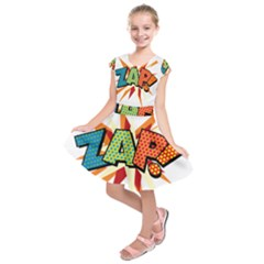 Comic Book Zap! Sans  Kids  Short Sleeve Dress