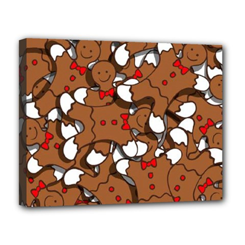 Christmas Candy Seamless Pattern Vectors Canvas 14  X 11