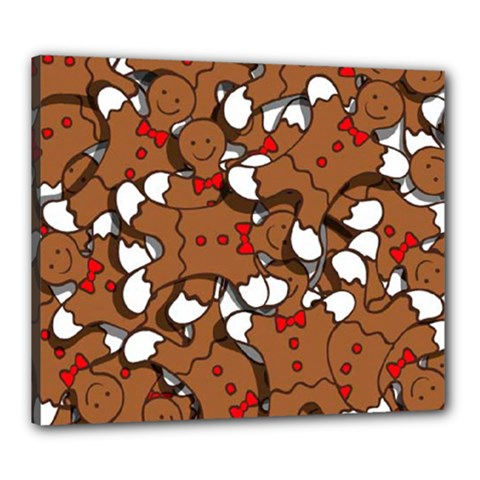 Christmas Candy Seamless Pattern Vectors Canvas 24  X 20