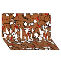 Christmas Candy Seamless Pattern Vectors #1 Mom 3d Greeting Cards (8x4)
