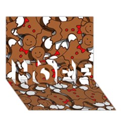 Christmas Candy Seamless Pattern Vectors Hope 3d Greeting Card (7x5)