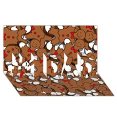 Christmas Candy Seamless Pattern Vectors #1 Dad 3d Greeting Card (8x4)