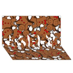 Christmas Candy Seamless Pattern Vectors Sorry 3d Greeting Card (8x4)