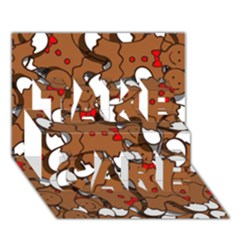 Christmas Candy Seamless Pattern Vectors Take Care 3d Greeting Card (7x5)
