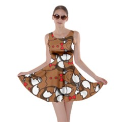 Christmas Candy Seamless Pattern Vectors Skater Dress