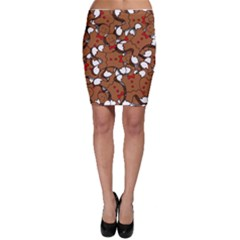 Christmas Candy Seamless Pattern Vectors Bodycon Skirt