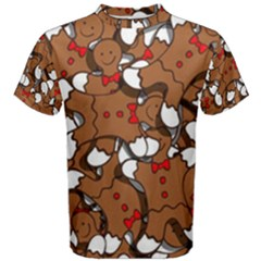 Christmas Candy Seamless Pattern Vectors Men s Cotton Tee