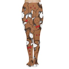 Christmas Candy Seamless Pattern Vectors Women s Tights