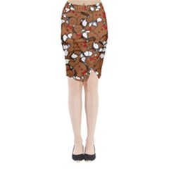 Christmas Candy Seamless Pattern Vectors Midi Wrap Pencil Skirt