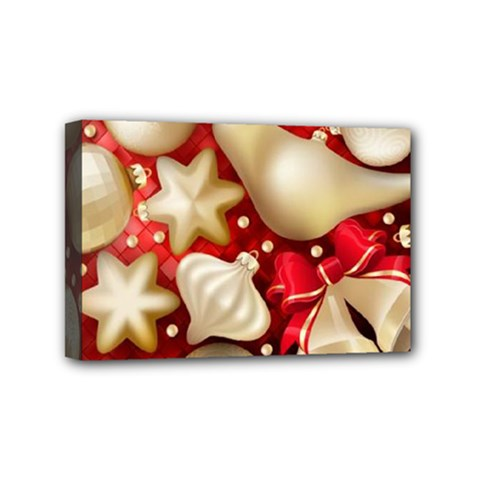 Christmas Baubles Seamless Pattern Vector Material Mini Canvas 6  X 4