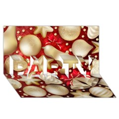 Christmas Baubles Seamless Pattern Vector Material Party 3d Greeting Card (8x4)