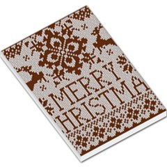 Christmas Elements With Knitted Pattern Vector Large Memo Pads