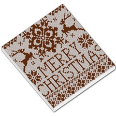 Christmas Elements With Knitted Pattern Vector Small Memo Pads