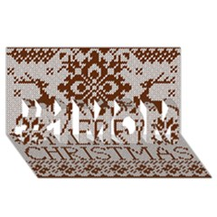 Christmas Elements With Knitted Pattern Vector #1 Mom 3d Greeting Cards (8x4)