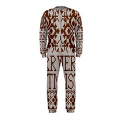 Christmas Elements With Knitted Pattern Vector Onepiece Jumpsuit (kids)