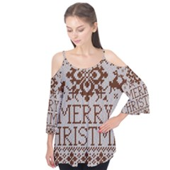 Christmas Elements With Knitted Pattern Vector Flutter Tees