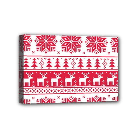 Christmas Patterns Mini Canvas 6  X 4